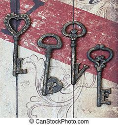 Antique Key of love