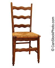 Antique kitchen chair - Antique wooden kitchen chair with...