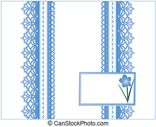 Antique Lace, Forget Me Not Flower - Victorian style present...