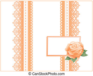 Antique Lace, Heritage Rose, Card - Victorian style present...