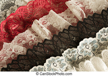 Antique lace in layers
