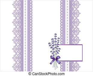 Antique Lace, Lavender Flower, Card - Victorian style...