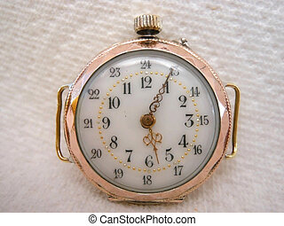 antique ladies watch reverse side