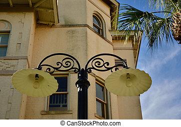 Antique lamp posts