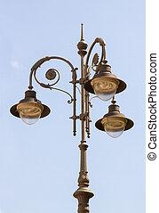 Antique lamppost.