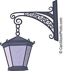 Antique lantern - Ancient nonluminous street lamp, hanging ...