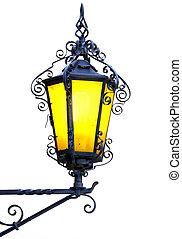 Isolated decorative ornate lantern.
