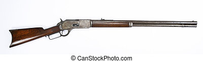 Antique Lever Action Rifle. - Antique 1876 Cowboy lever...