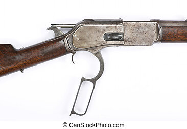 Antique Lever Action Rifle cocking hammer..