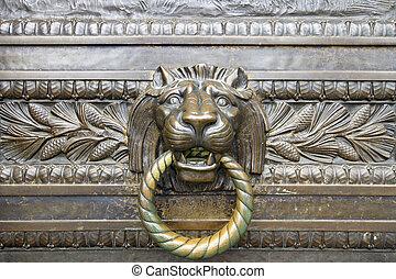 Lion Head Bronze Door Knocker