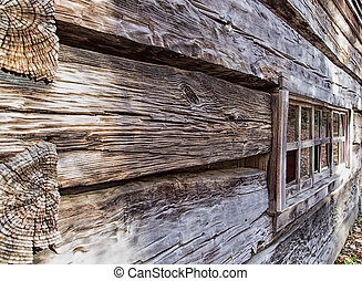 Antique log cabin