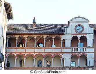 Antique loggia in pavia - Antique loggia on Piazza della...
