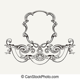 Antique Luxury High Ornate Frame And Banner