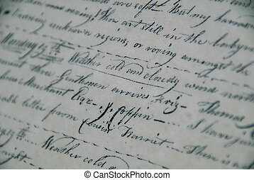 Antique Manuscript - Detail of a antique manuscript