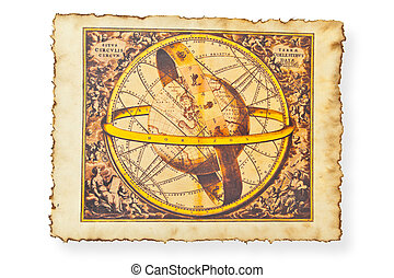 Antique map of World