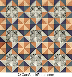 Antique marbled floor tiles, abstract pattern - Antique...