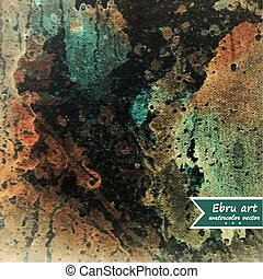 Antique marbled paper.Watercolor texture background.