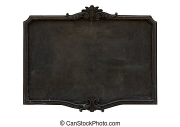 Antique menu board. isolated on white.