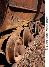 Antique Mining Car Wheels