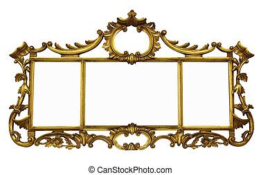 Antique Mirror with Copyspace