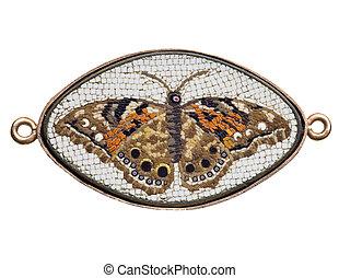 antique mosaic - antique Italian glass butterfly mosaic