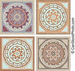 Antique mosaic - Stock vector illustration seamless pattern ...