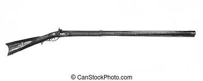 Antique Mountain Mans 52 caliber Rifle.