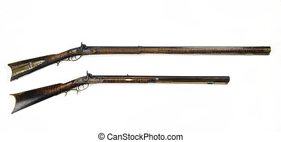 Antique Mountain Mans Rifles.