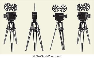 Antique Movie Stand Camera