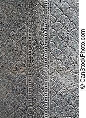 Antique naga bronze texture