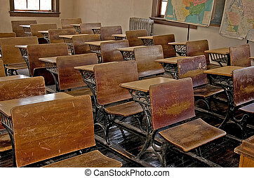 Antique Old School Classroom