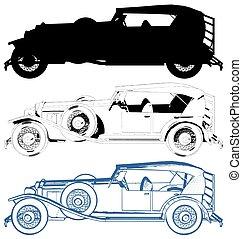 Antique Oldsmobile Car Vector