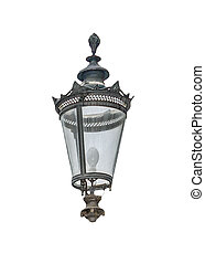 Antique Ornate Lamp Isolated - Front view antique ornate ...