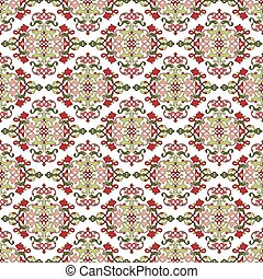 Antique ottoman turkish pattern vec - colorful antique...