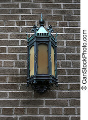 Antique outdoor wall lamp, a vertical picture