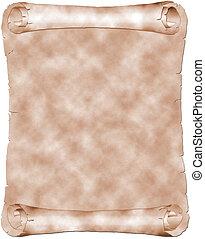 Antique parchment - Antique sepia parchment isolated on...