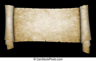 Antique parchment scroll.