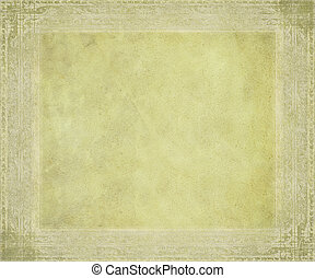 Antique parchment with embossed frame textured background