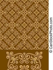Antique Pattern Design - Vector file of brown color antique...