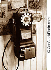 Antique Payphone - this image of an antique Payphone is...