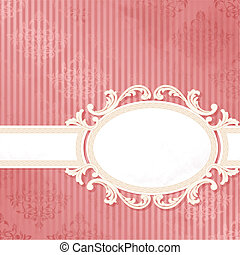 Antique pink wedding banner - Grungy, intricate pink and...