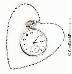 Antique pocket clock with chain