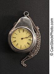Antique pocket watch in case
