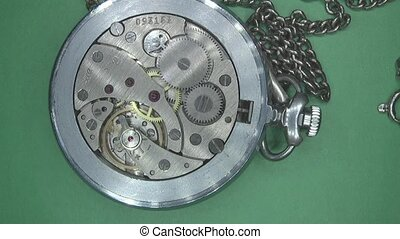 antique pocket watch is broken,