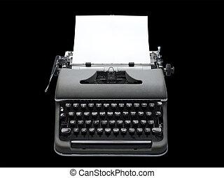 Antique portable typewriter - old fashioned, vintage...