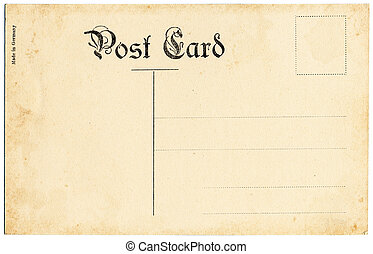 Antique Postcard - The backside of an old postcard from the ...