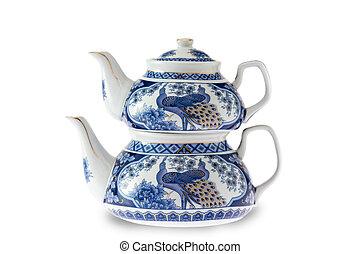 Antique pottery Turkish teapot