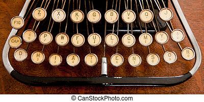 Antique pre-QWERTY typewriter