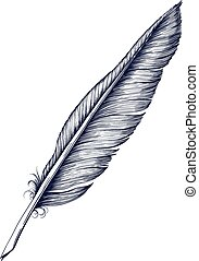 Quill Pen - Antique Quill Pen for writing