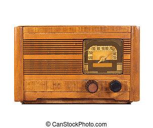 Antique Radio Isolated On White